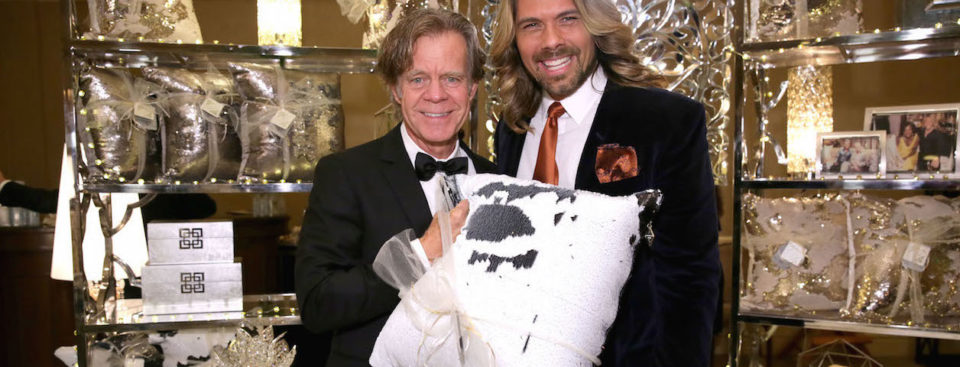 William H. Macy and Joshua Johnson at the Writer's Guild Celebrity Reteat